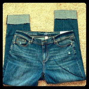 Loft outlet cropped original straight jeans